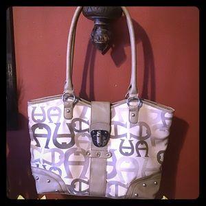 Etiénne Aigner Leather & Fabric Tote Bag